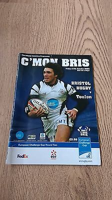 Bristol v Toulon 2008 European Cup Rugby Union Programme