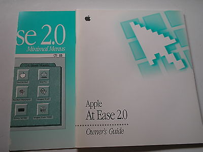 Vintage User's Guide and reference card for Apple At Ease 2.0  used 12065-4