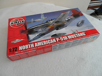 Airfix 1:72 Scale Set #a01004 American Mustang P51-D Complete Factory Sealed Box