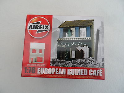 Airfix 1:76 Scale Set #a75002 European Ruined Cafe Complete Factory Sealed Box