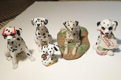 Collection of 5 Resin Dalmatian Figurines Dalmatian Dogs!