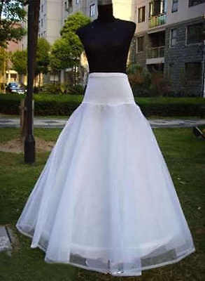 2016 New White A-Line 1-Hoop Wedding Dress Underskirt Petticoat A4
