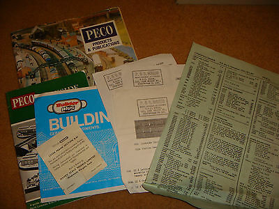Vintage Catalogue and leaflets for Peco and others