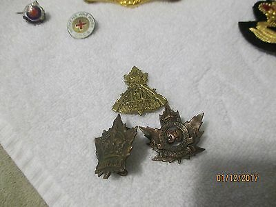 Ww1 Canadian 3 Collar Badges59Th. 150Th. And Canada