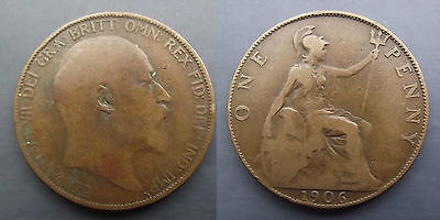 0221 Great Britain Edward Vii Penny 1906