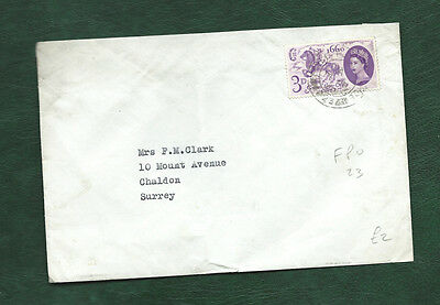 GB 1960 General letter Office sd stamp Forces Post Office FPO 23 pmk