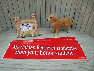 Golden Retriever - bumper stickers, statue, magnetic frame