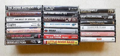 Greatest Hits 20 Cassette Tape Lot CSNY Stones Steppenwolf Eagles Bread Heart