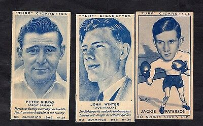 Carreras Turf Cigarette Cards Olympics 1948 And Sports Series