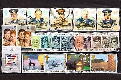 QEII 1986  4 used Commemorative sets (j537)