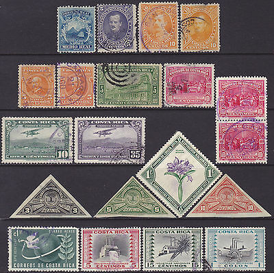 Costa Rica 1863-1954 Definitive & Commemorative MH MNG & Used 1/2r-1col Stamps