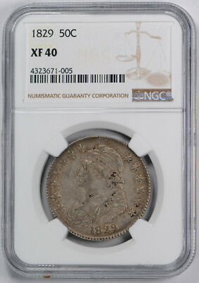 1829 Capped Bust Half Dollar 50C NGC XF 40 Extra Fine O-109 R 4 Rariety