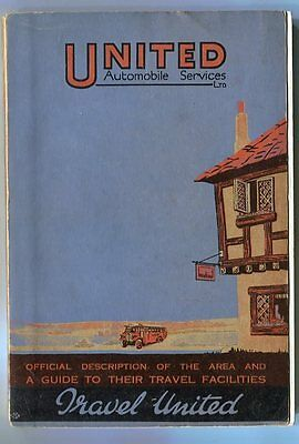 United Automobile Services Ltd: Official Guide to Travel Facilities: 1931 book