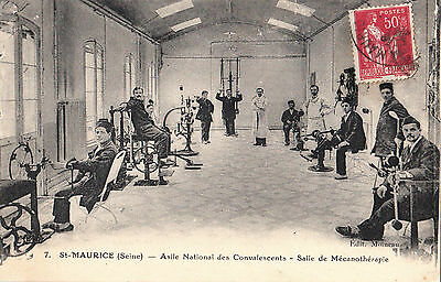 France  Seine   Paris  St Maurice Asylum  Convalescents In Physio Room