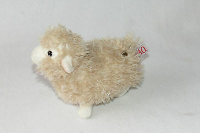 FAO Schwarz Sheep Lamb Beige Cream Shaggy Fluffy 2014 Soft Plush Toys R Us 8""