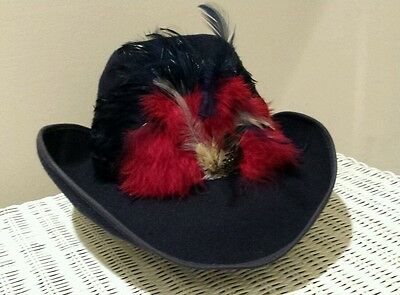 Betmar New York Vintage Wool Hat With Feathers Nwt! !