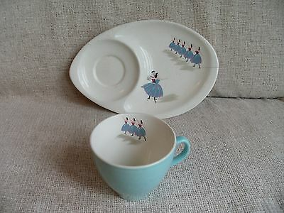 BESWICK Pavlova Combined Saucer Plate With Cup - Impressed 1782