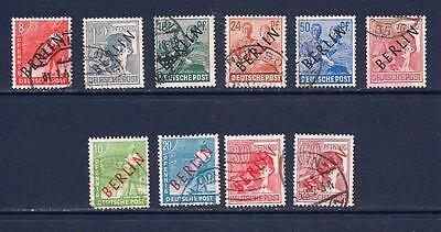 Germany West Berlin 1948-49 Black and Red overprints.Fine Used SG 2015 cat £66 +