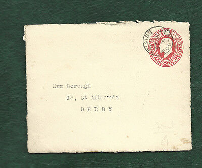 GB 1909 Edward VII stationery front only used Bristol