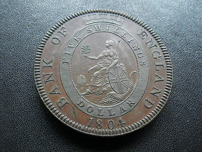 . Great Britain 1804 Bank of England Dollar In Copper (Unc) Modern