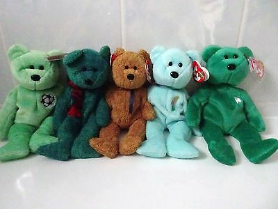 Ty Beanie Babies  Five Bears - All Retired & Tagged   *** L@@k***