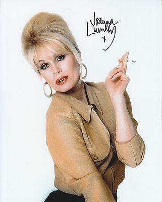 Joanna Lumley Absolutely Fabulous  Signed  10 Inch By 8 Inch Photograph