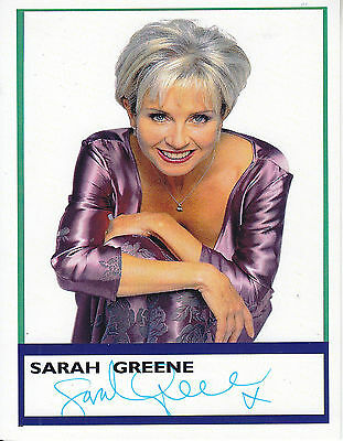Sarah Greene Signed Picture