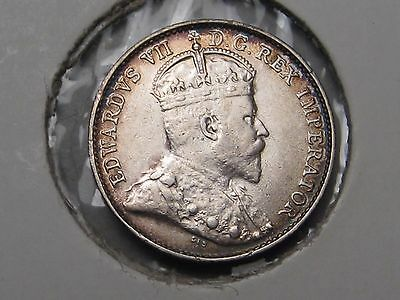High Grade 1908 Canadian CANADA Silver Five-cent. 5c.