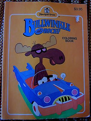 VINTAGE: Rocky & BULLWINKLE FUN COLORING BOOK by Merrigold Press 1990 FREE SHIP