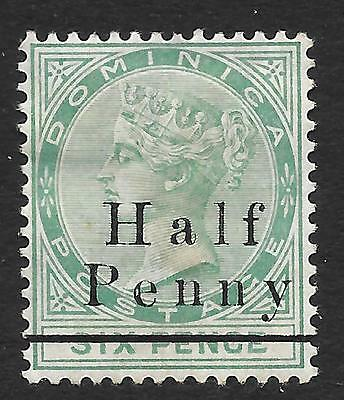 Dominica 1886 ½d on 6d Green SG 17 (Mint)