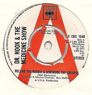 "Dr Hook 7"" Promo - Roland The Roadie & Gertrude The Groupie + Put A Little 1973"
