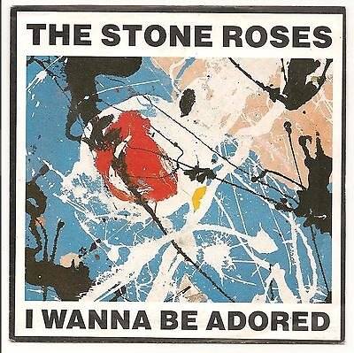 """The Stone Roses I Wanna Be Adored 7"""" Single Paper Label & Picture Sleeve 1991"""