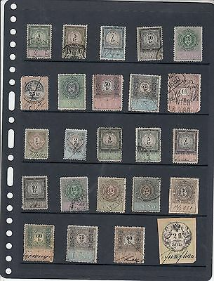 Austrian Early Revenues, 24 different stamps