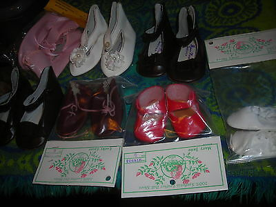 Leather Doll Shoes  Unused Store Stock 7 Pairs