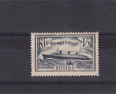 """France 1935 # 300, """"s.s. Normandie"""" Mint Hinged !!"""