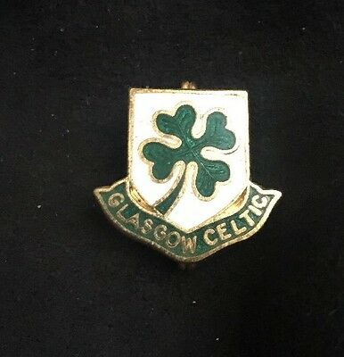 Rare Old Glasgow Celtic Fc Enamel Pin Badge Coffer Antique Vintage Original