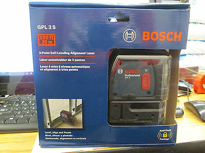 Bosch GPL3S 3-Point Self Leveling Alignment Laser Level NEW