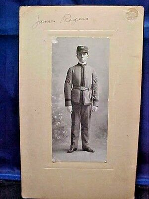 Original Vintage Photograph Of A US Military Sergeant With Sidearm