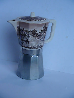 CAFETIERE ITALIENNE ALU FAIENCE DECOR CHAMPETRE CUISINE collection
