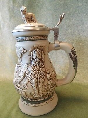 Great Dogs of the Outdoors #145208 covered Stein Ceramarte Avon 1991