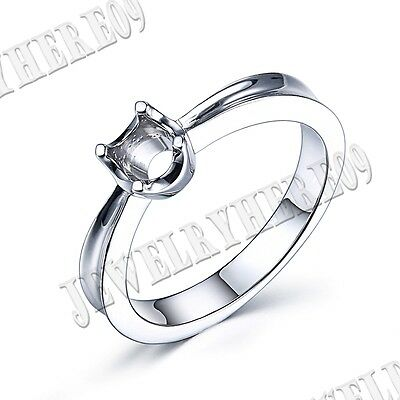 6mm 14k White Gold Simple Style Round Prong Setting Engagement & Wedding Ring
