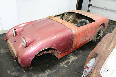 1960 Austin Healey Sprite Chassis only/No front Suspension 1960 Red Chassis only/No front Suspension!