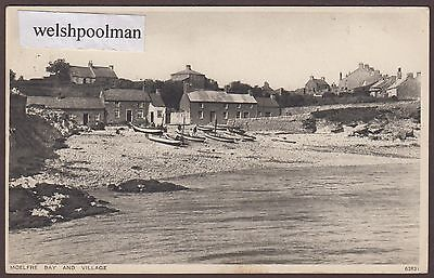 Vintage 1930 Moelfre Bay And Village Anglesey North Wales Postcard