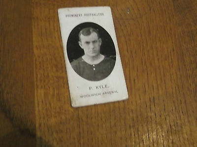 1907 Original Taddy Prominent Footballers Woolwich Arsenal Player P Kyle