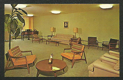 Minot ND - State Teachers College Interior View Of Lounge, Etc. Ca. 1950's-60s