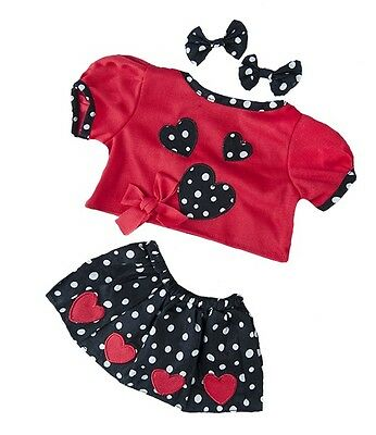 """Party Heart outfit inc earbows / teddy clothes to fit 15"""" Build a Bear Plush"""
