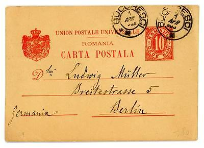 c1903 Romania postal stationery postcard from Bucharest to Berlin