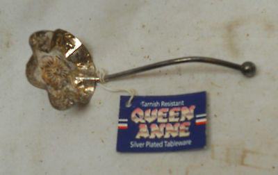 STUNNING Vintage Collectable QUEEN ANNE SILVER PLATE LADLE 12cm Length