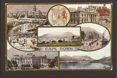 South Africa. Cape Town. Multi-View. Posted Simons Town 1924.