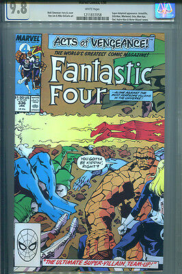 FANTASTIC FOUR #336  CGC 9.8   White Pages